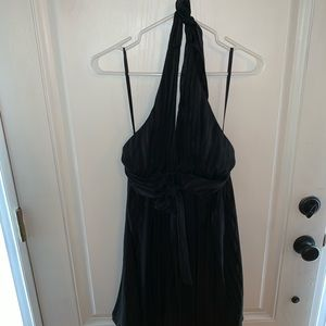 BCBG silk black dress size 6 petite